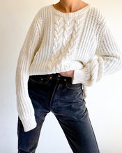 Load image into Gallery viewer, Vintage Nautica White Cable Knit Sweater
