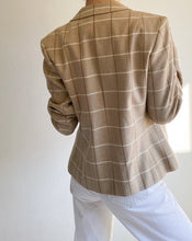 Load image into Gallery viewer, Vintage Pendleton Beige Plaid Wool Jacket