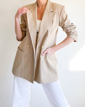 Load image into Gallery viewer, Vintage Beige Double-Breasted Blazer