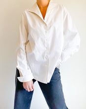 Load image into Gallery viewer, White Cotton Button Collar Shirt