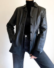 Load image into Gallery viewer, Vintage Black Leather Jacket