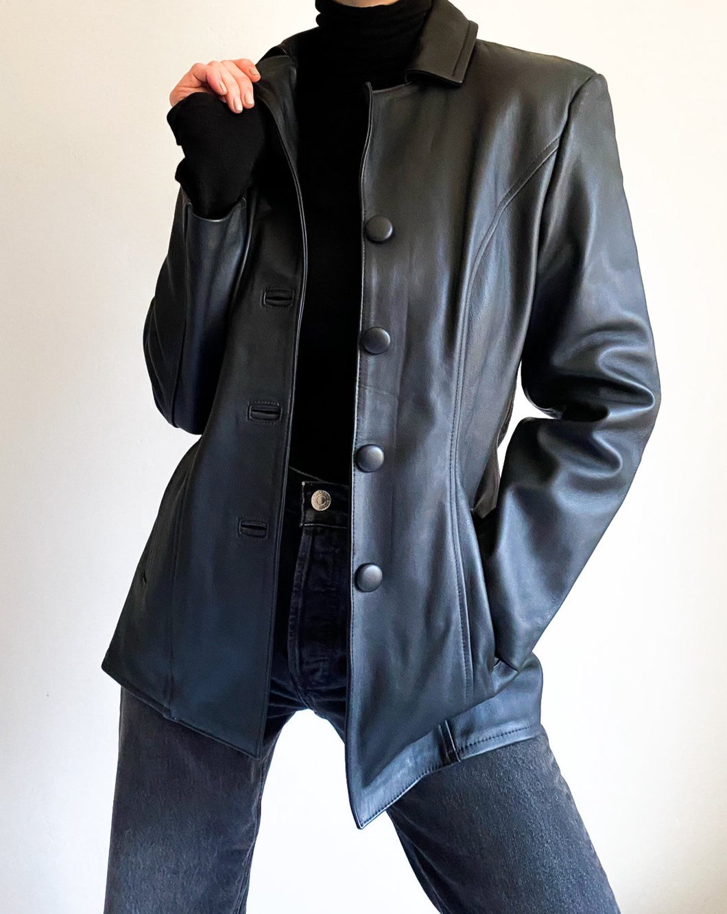 Vintage Black Leather Jacket