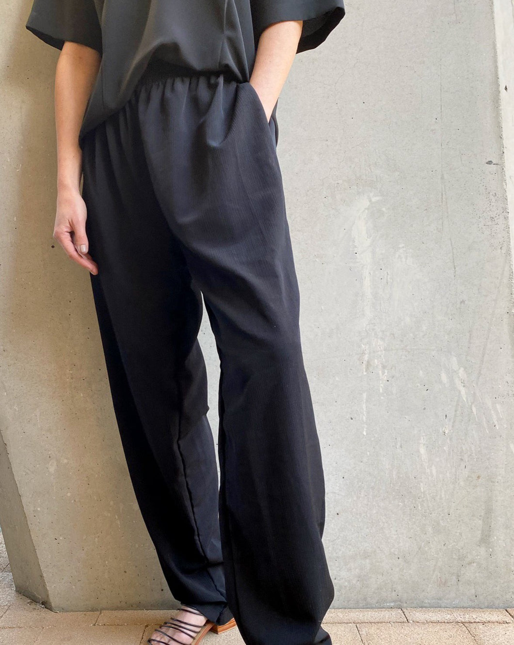 Vintage Black Relaxed Trouser