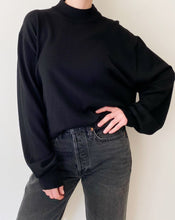Load image into Gallery viewer, Vintage Black Mock Neck Sweater
