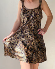Load image into Gallery viewer, Vintage Leopard Mini Slip Dress