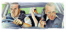 Load image into Gallery viewer, Hot Fuzz - Maybe it was the Swan  Poster Print By Jim Ferguson
