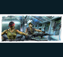 Load image into Gallery viewer, Aliens - Drake and Vasquez  Poster Print By Jim Ferguson