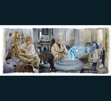 Load image into Gallery viewer, Star Wars A New Hope - Help me, Obi-Wan Kenobi You're my only hope By Jim Ferguson