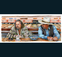 "Load image into Gallery viewer, The Big Lebowski - Sometimes You Eat the Bar 5""x11"" Poster Print By Jim Ferguson"