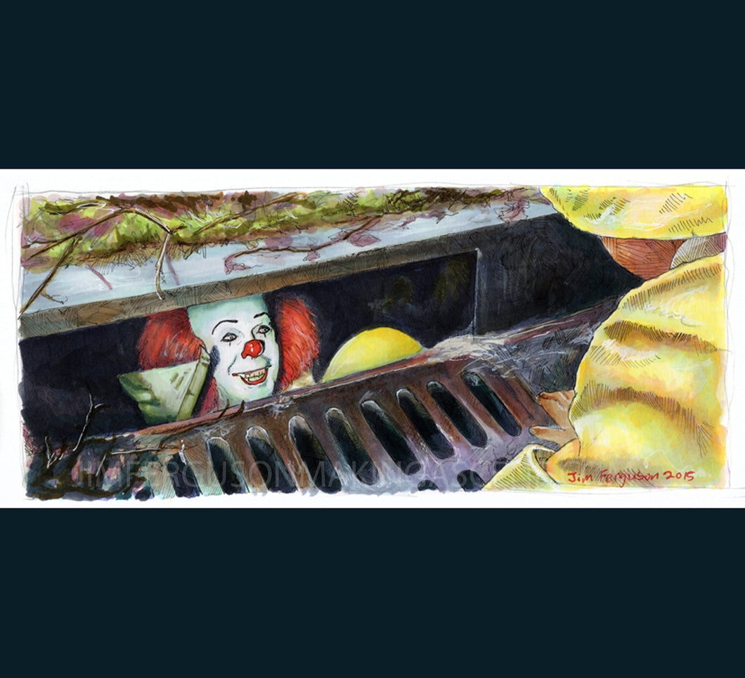 It - They All Float Down Here Poster Print By Jim Ferguson
