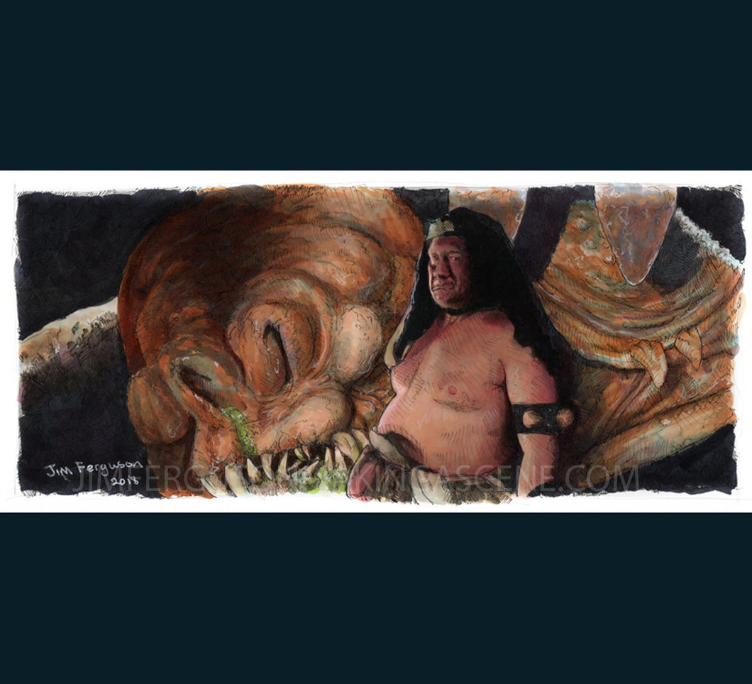 Star Wars- Return of the Jedi - Rancor Keeper Poster Print By Jim Ferguson