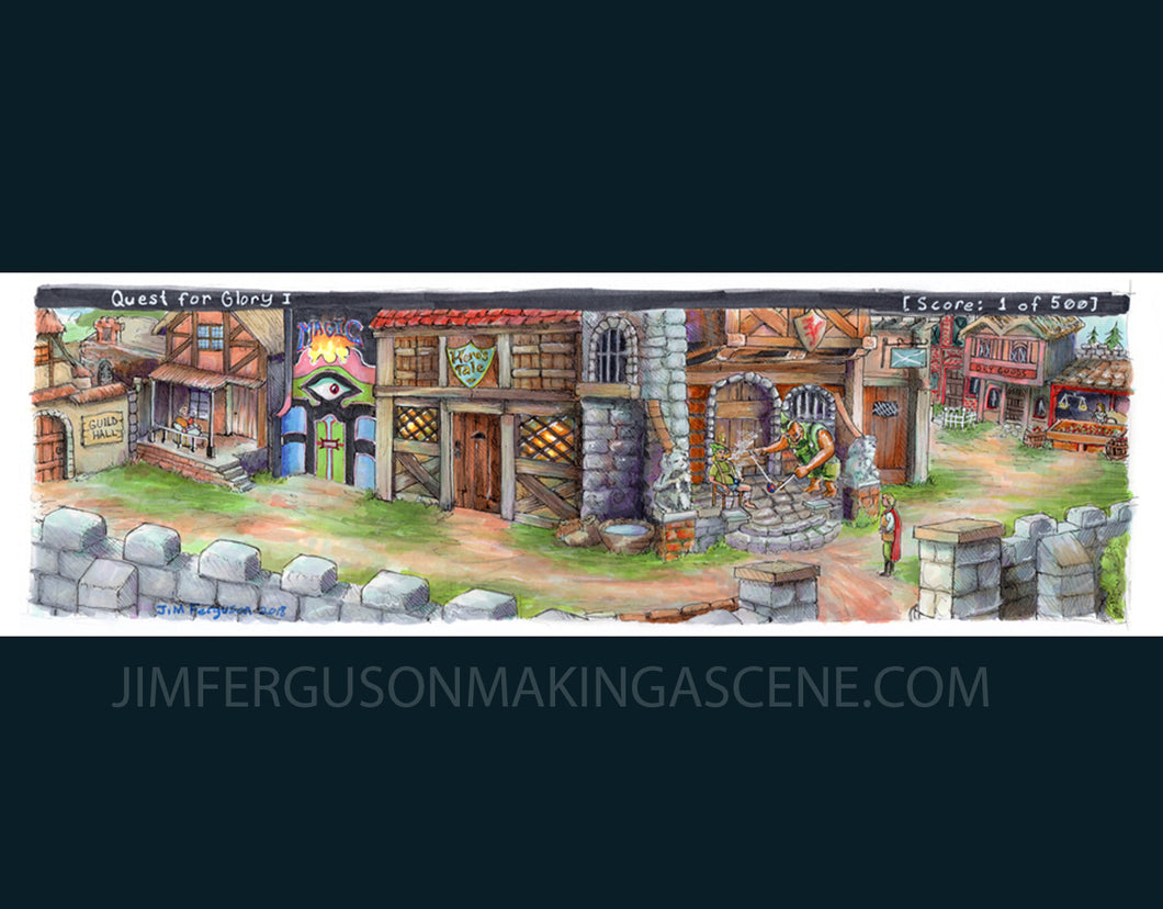 Quest for Glory - Village of Spielburg By Jim Ferguson