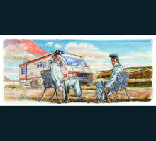 Load image into Gallery viewer, Breaking Bad - Walter and Jessie Print By Jim Ferguson