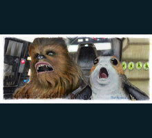 Load image into Gallery viewer, Star Wars - The Last Jedi- Chewie and Porg  Print By Jim Ferguson