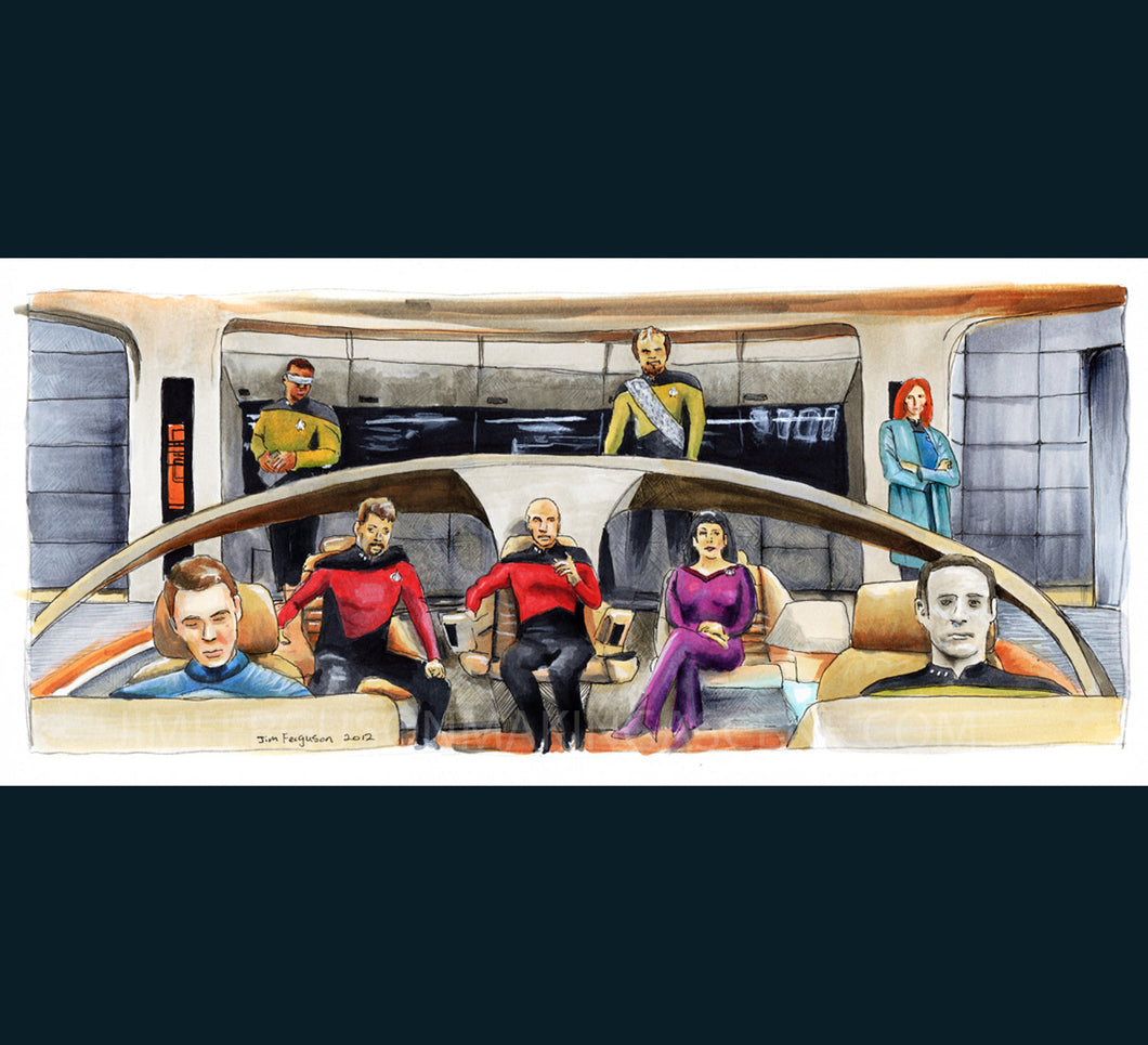 Star Trek  The Next Generation 25th Anniversary - Make it So.  Poster Print By Jim Ferguson