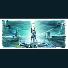 "Load image into Gallery viewer, Tron Legacy: Sam and Quorra 5""x11"" Poster Print By Jim Ferguson"