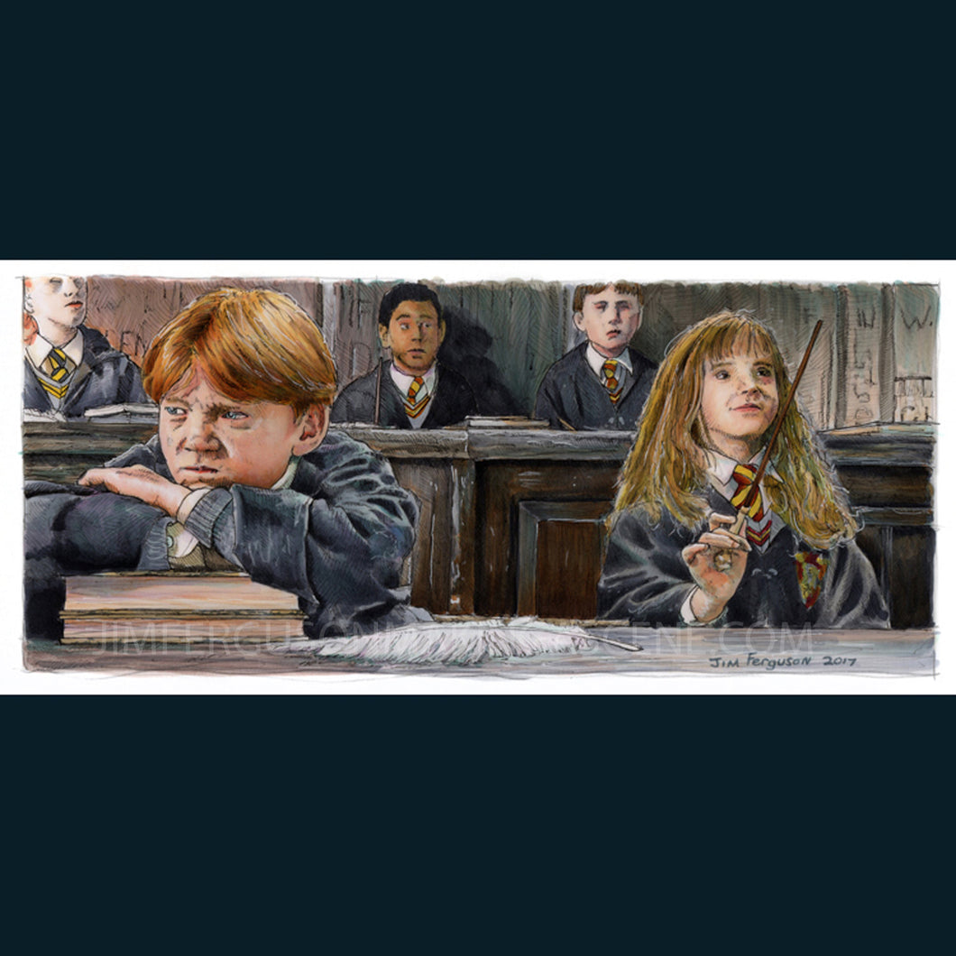 Harry Potter - It's leviOsa, not levioSA! Print By Jim Ferguson