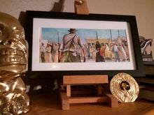 "Load image into Gallery viewer, Indiana Jones - Cairo Swordsman 5""x11"" Poster Print By Jim Ferguson"