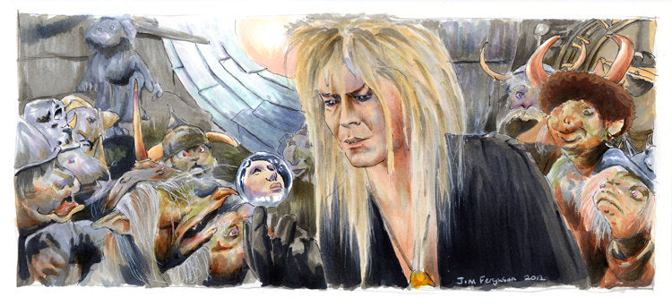 Labyrinth - The Goblin King Poster Print By Jim Ferguson