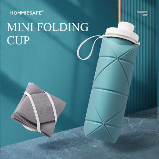 HOMMIESAFE™ Outdoor Silicone Folding Cup 600ml