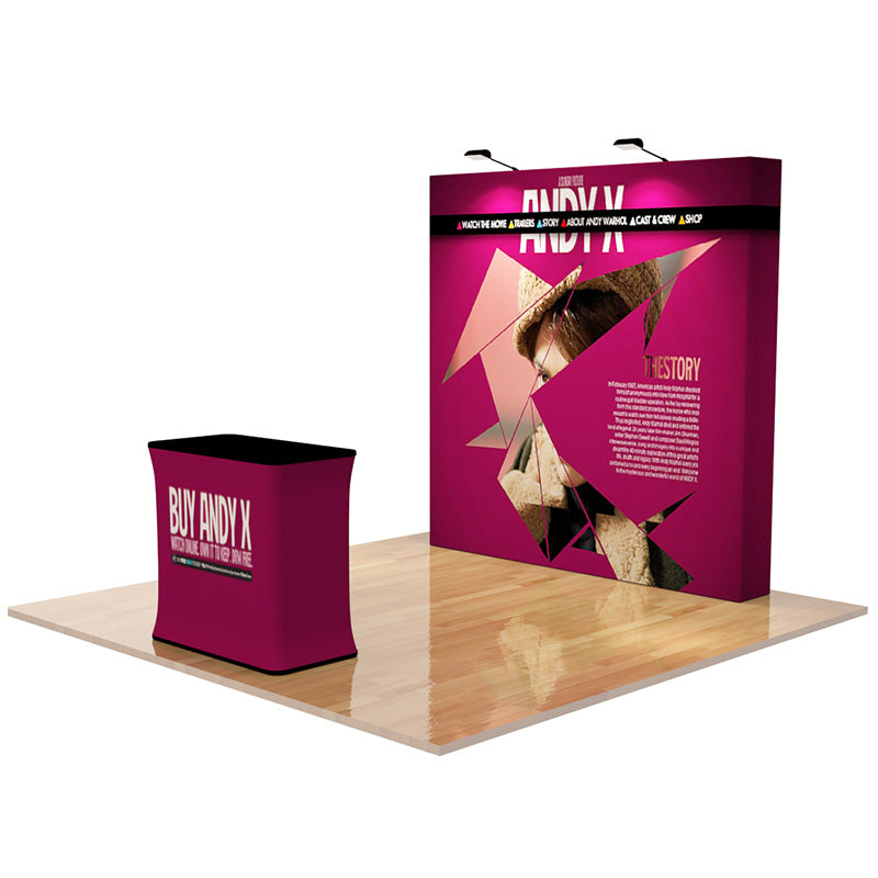 Pop Up Straight 8ft (3x3) - Tension Fabric Display Backwall