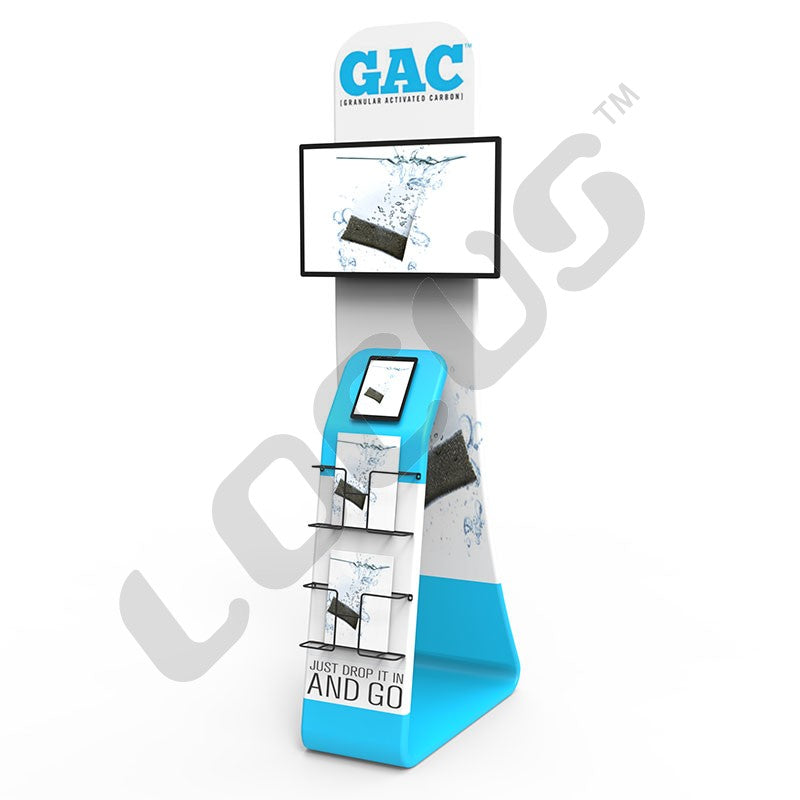 TV Tablet Literature Tension Fabric Display Stand