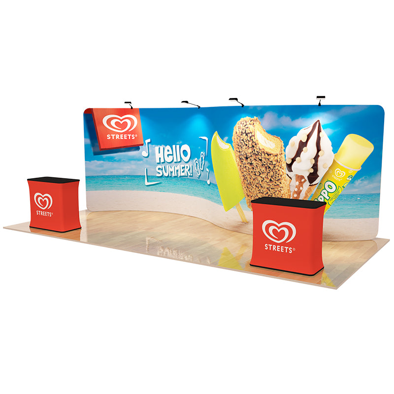S Curved 20ft - Tension Fabric Display Backwall
