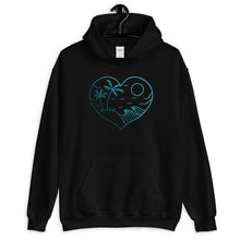 "Load image into Gallery viewer, ""Love Beach"" Unisex Hoodie"