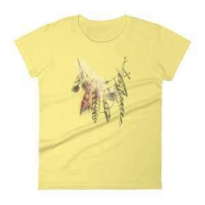 """Feather Necklace"" Women's short sleeve t-shirt"