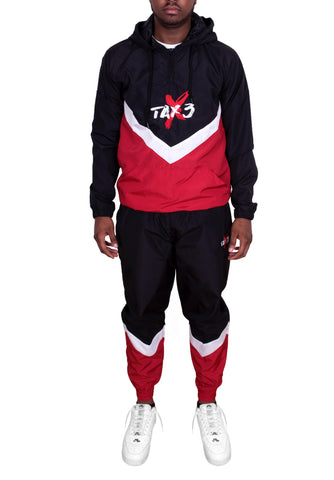 Spacesuit Tracksuit - Black/Red