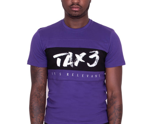Its Relevant 2.0 T-shirt - Purple-Black