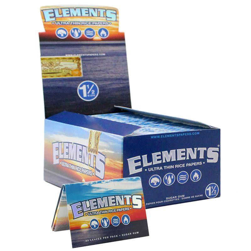 "Elements 1 1/2"" Size Rolling Paper- 25 per Box"