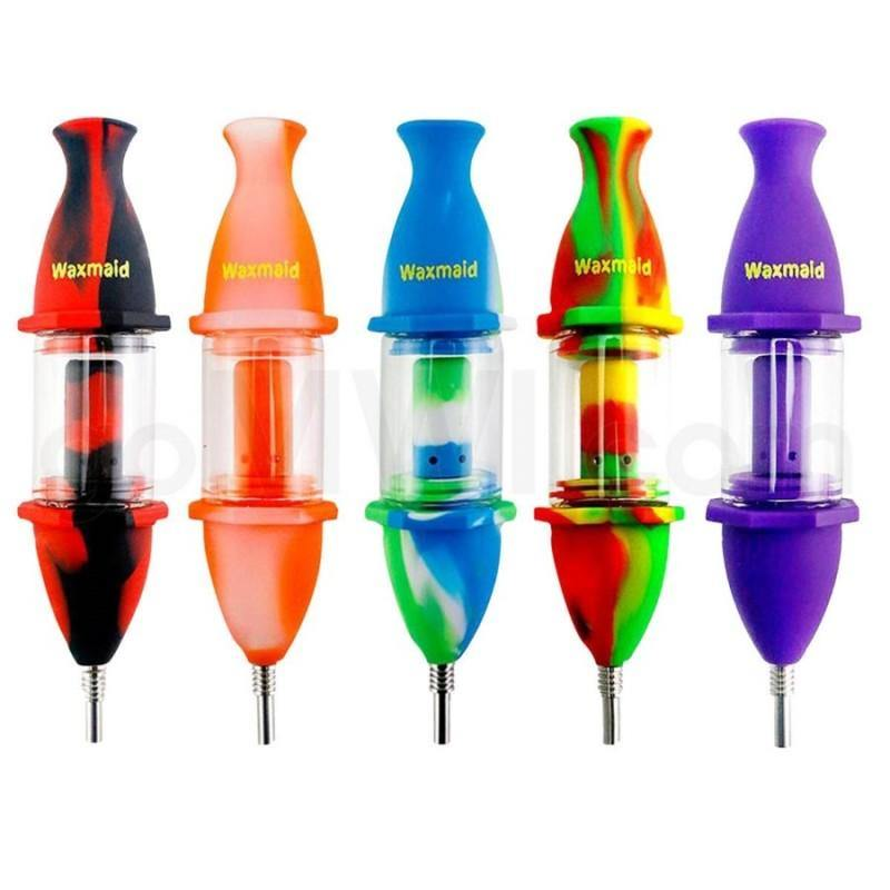 Rocket Style Nectar Glass And Silicone Nectar Collector