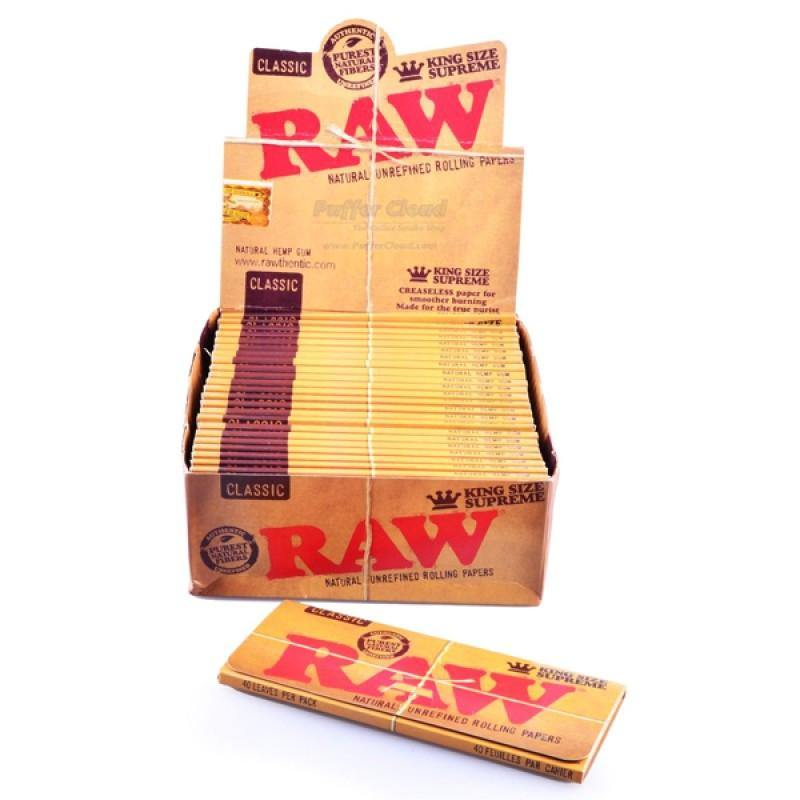 Raw Classic King Size Supreme Rolling Paper