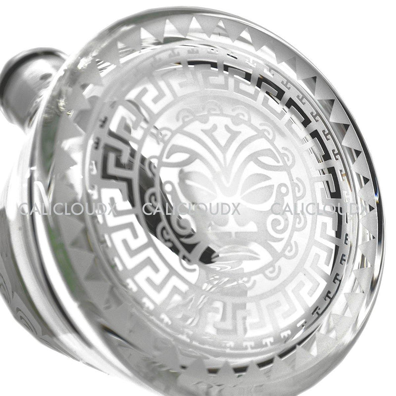 "15"" Engraved Design 9mm Base Beaker by Cali Cloudx"