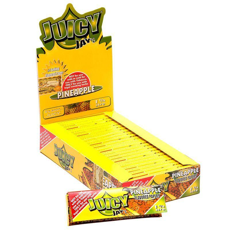 "Juicy Jay's 1 1/4"" Size Rolling Paper  Pineapple Flavor"