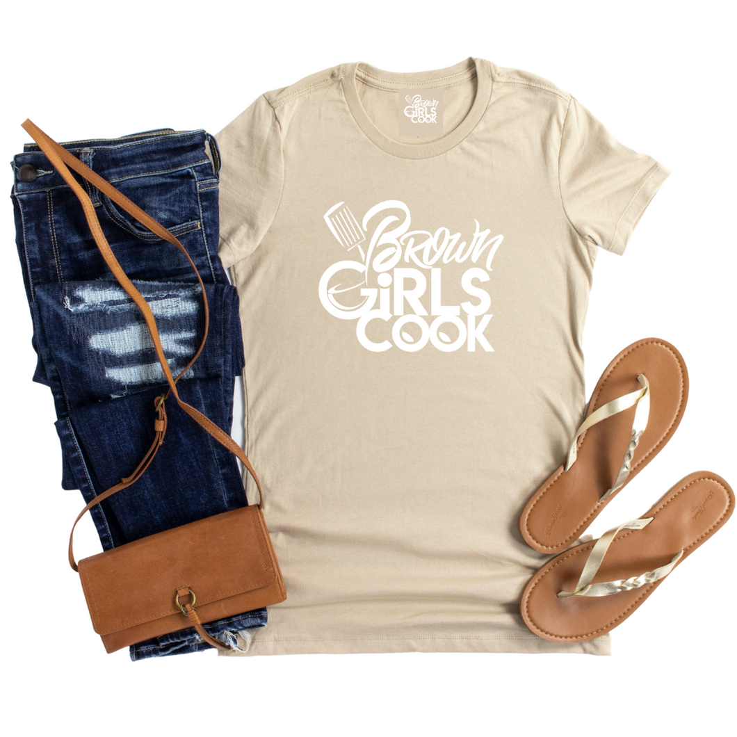 Brown Girls Cook Signature Tee - Unisex - Tan