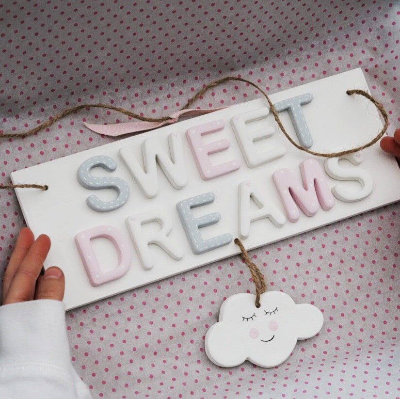 Sweet Dreams Cloud Sign - Florence and Grace Personalised Gifts