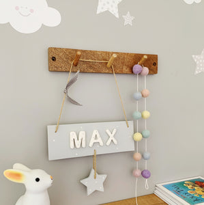 Personalised Grey Star Name Sign