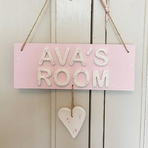 Personalised Heart Room Sign - Florence and Grace Personalised Gifts