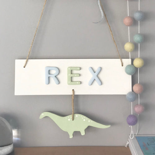 Personalised Dinosaur Name Sign - Florence and Grace Personalised Gifts