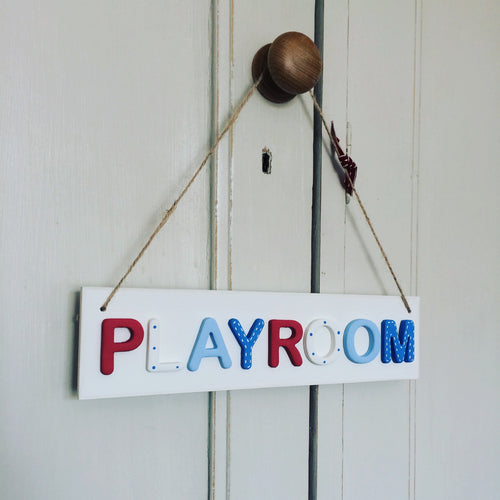 Playroom sign - Florence and Grace Personalised Gifts