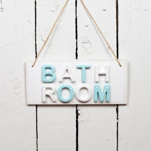 Bathroom Sign Door Plaque - The Little Sign Company Personalised Gifts