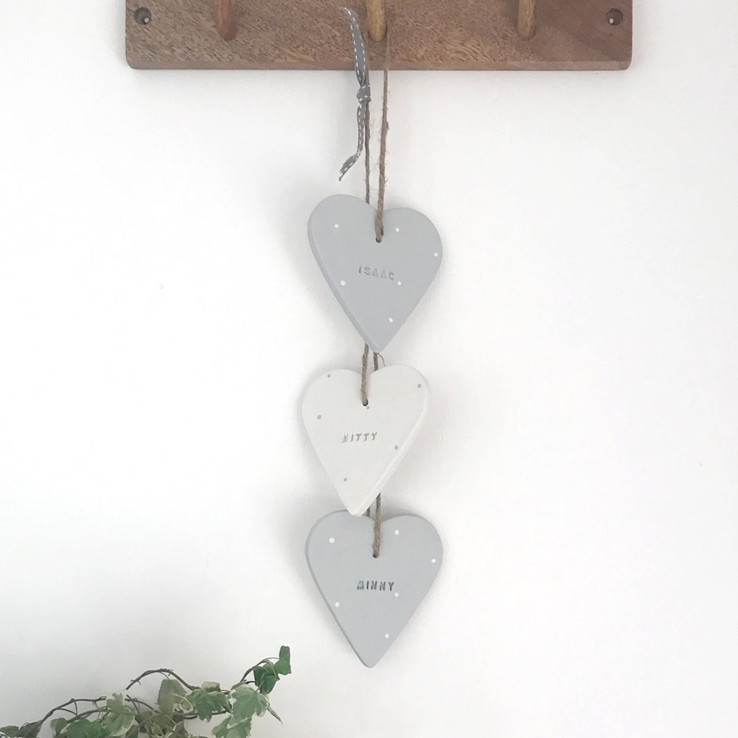 Personalised Hanging Hearts