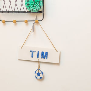 Personalised Football Name Sign