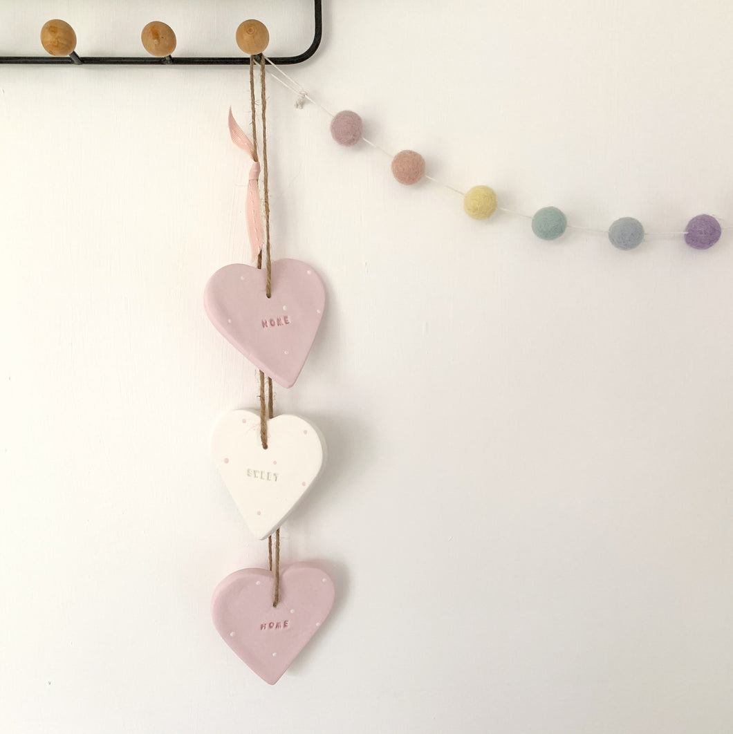 Home Sweet Home Hanging Hearts