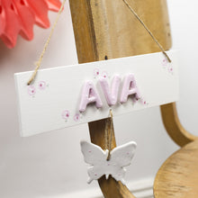 Personalised Butterfly Name Sign - Florence and Grace Personalised Gifts