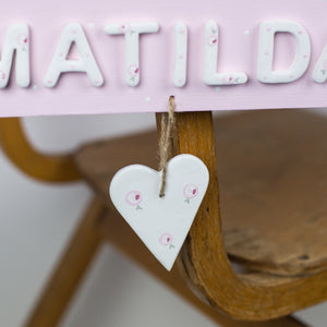 Personalised Heart Name Sign - Florence and Grace Personalised Gifts