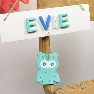 Personalised Owl Name Sign - Florence and Grace Personalised Gifts