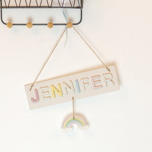 Personalised Rainbow Name Sign
